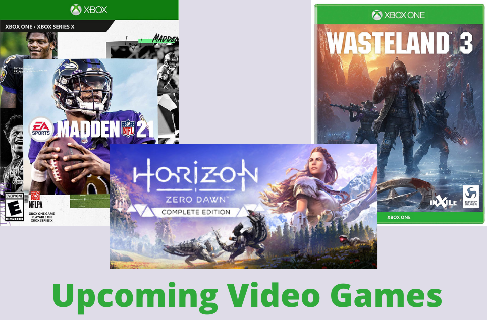 Upcoming Video Games- Horizon Zero Dawn- Madden NFL 21- Wasteland 3